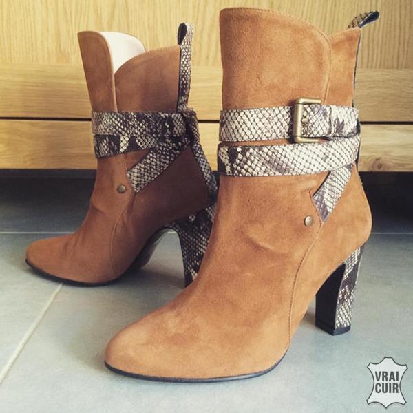 bottines cuir chaussures petites pointures femme